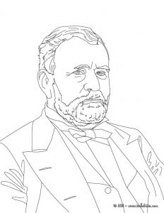 Mystery Of History Coloring Pages - President General Ulysses Grant Coloring Page 10q