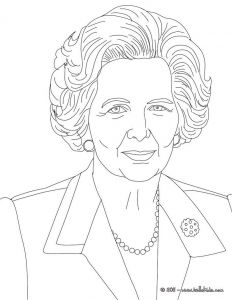 Mystery Of History Coloring Pages - Margaret thatcher Coloring Page 6j