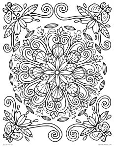 Nature Mandala Coloring Pages - Awesome Free Printable Spring Coloring Pages for Adults Free 15 L Spring Mandala Nature 3l
