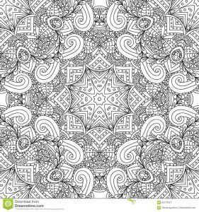 Nature Mandala Coloring Pages - Coloring Pages for Adults Coloring Book Decorative Hand Drawn Doodle Nature ornamental Mandala Vector Sketchy Seamless Pattern 7k