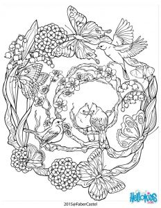 Nature Mandala Coloring Pages - Mandala with Natural Patterns Worksheet Bird Coloring Pages Printable Coloring Pages Coloring Books 1o