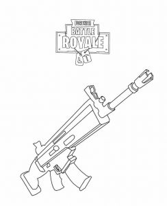 Nerf Coloring Pages - fortnite Rifle Scar Coloring Page Coloring Sheets for Kids Free Coloring Pages Nerf Party 19c