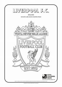 Nfl Mascot Coloring Pages - Liverpool F C Logo Coloring Coloring Page with Liverpool F C Logo… 14h