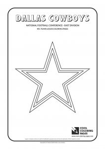 Nfl Mascot Coloring Pages - Nfl Jersey Coloring Pages Dallas Cowboys Logo Coloring Pages Printable 17a