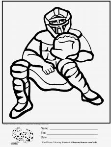 Nfl Mascot Coloring Pages - Mlb Coloring Pages Easy and Fun Coloring Pages for Boys Baseball Catcher 1f