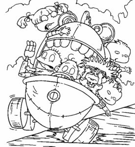 Nickelodeon Cartoon Coloring Pages - Coloring Detail 13f