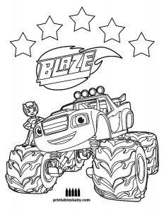 Nickelodeon Coloring Pages Online - Blaze Coloring Pages to Print 13 Q and the Monster Machines Colouring Amusing Draw Nick 9g