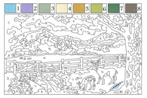 Numbers Coloring Pages Pdf - Paint by Numbers Free Printables for Adults Google Search 3c