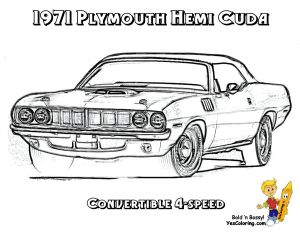 Old Cars Coloring Pages - Plymouth Superbird Coloring Pages 16b