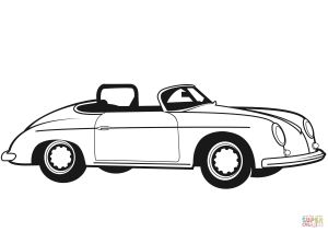 Old Cars Coloring Pages - the Classic Convertible Car Coloring Pages 5g