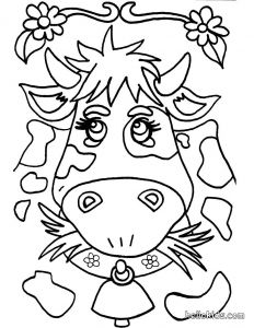 Online Coloring Pages - Go Green and Color Online This Cow Coloring Page Cute and Amazing Farm Animals Coloring Page for Kids More Coloring Sheets On Hellokids 11r