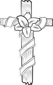 Online Easter Coloring Pages - Cross Coloring Pages 4s