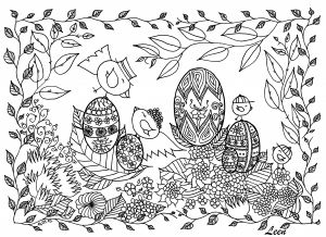 Online Easter Coloring Pages - Adult Easter Coloring Pages 5q
