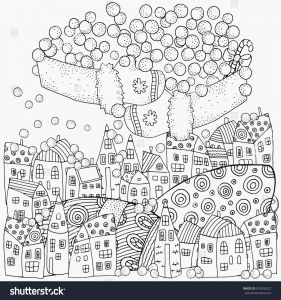 Pen Coloring Pages - Winter Adult Coloring Pages Winter Scene Coloring Pages Fresh Winter Pattern Adult Coloring Book 6a