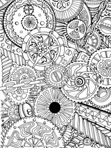 """Pen Coloring Pages - 15cm X 20cm 6"""" X 8"""" Rotring Rapidograph Pen On Cartridge Paper Created In Response to A Friend S Request that I Create A Pattern Based On Cogs and Chains 19d"""
