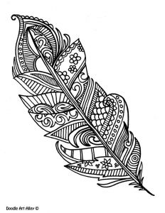 Pen Coloring Pages - Feather Coloring Page to Go Along with Lessons On Gossip and Rumors 6b