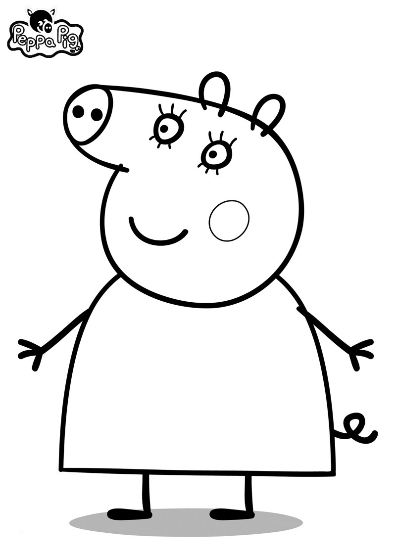 25 peppa pig coloring pages online download - coloring sheets
