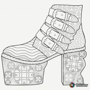 Poetry Coloring Pages - Shoe Coloring Page Free Printable Coloring Pages Line Archives Katesgrove 11r