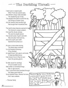 Poetry Coloring Pages - Coloring Page Poems the Darkling Thrush by Thomas Hardy 13q