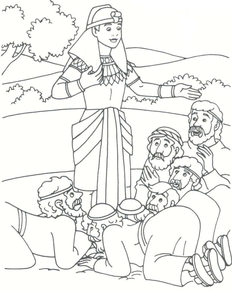 preschool bible story coloring pages Collection-Joseph s brothers bowing to him Genesis 42 45 Preschool Bible Bible School 12-n