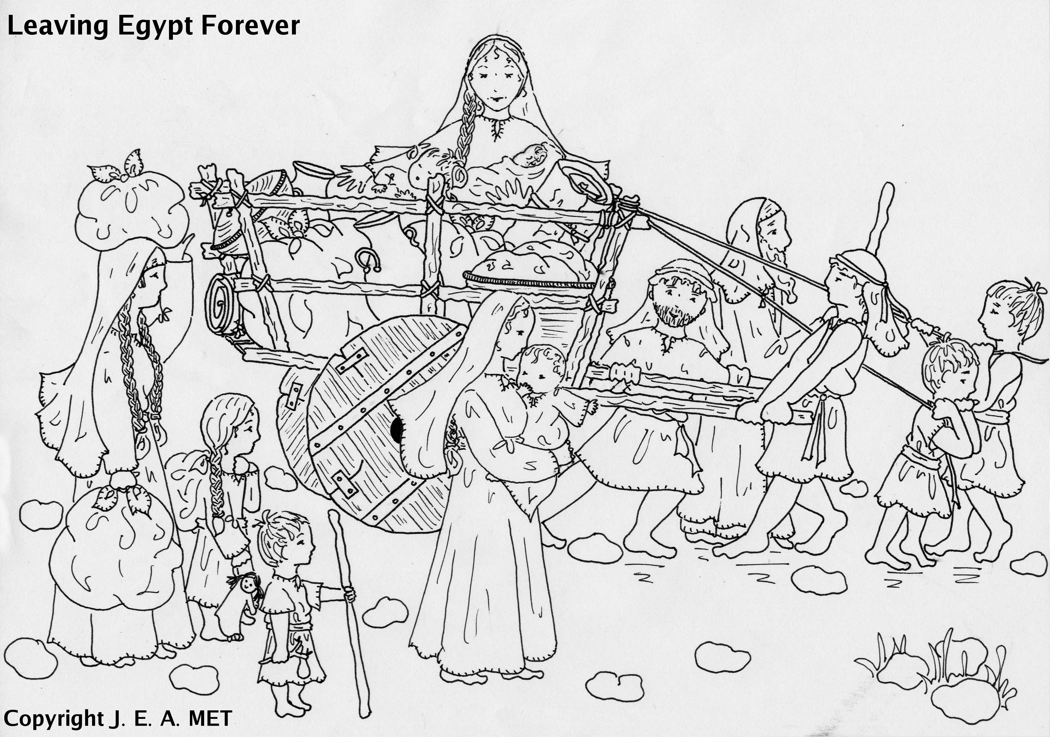 preschool bible story coloring pages Collection-The Bible Israelites Leaving Egypt Coloring Pages 3-o
