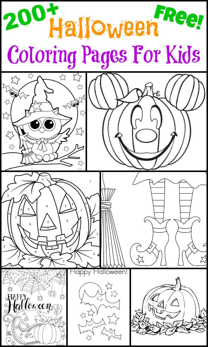 preschool halloween coloring pages Collection-200 Free Halloween Coloring Pages For Kids 4-q
