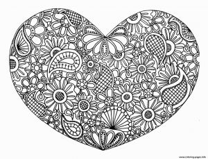 Pretty Mandala Coloring Pages - Full Page Mandala Coloring Pages Beautiful Awesome Coloring Page for Adult Od Kids Simple Floral Heart 10p