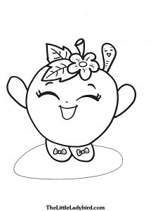 Print Shopkins Coloring Pages - Apple Blossom Coloring Pages 1g