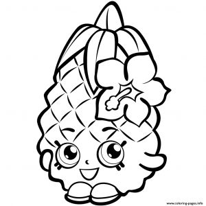 Print Shopkins Coloring Pages - Fruit Pineapple Shopkins Season 1 Coloring Pages Printable 11j