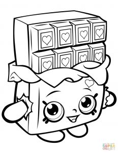 Print Shopkins Coloring Pages - Shopkins Coloring Pages to Print Cheeky Choklet Full Printable 9 5 791x1024 17q