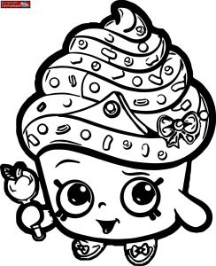 Print Shopkins Coloring Pages - Shopkins Coloring Pages Cupcake Queen 2 10s