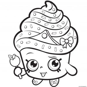 Print Shopkins Coloring Pages - Cupcake Queen Exclusive to Color Coloring Pages Printable 18d
