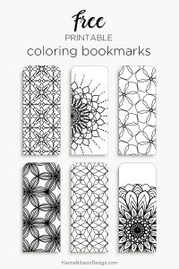Printable Bookmark Coloring Pages - Color Your Own Bookmarks Free Printable Bookmarks for Coloring Just and Print 3h