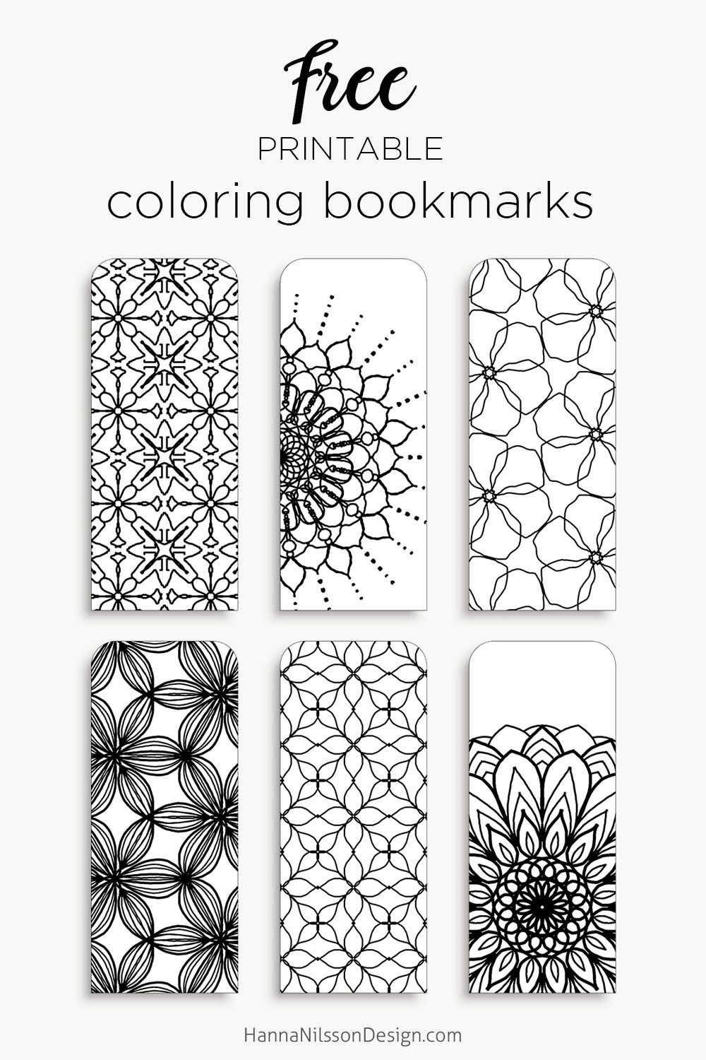 printable bookmark coloring pages Collection-Color your own bookmarks FREE printable bookmarks for coloring Just and print 10-f