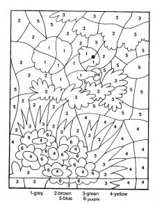 Printable Color by Numbers Coloring Pages - Printable Color by Number Pages for Kids Coloring Pages Color by Number Fall 24 Coloring Pages 14o