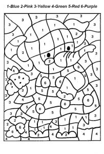 Printable Color by Numbers Coloring Pages - Color by Number Coloring Pages Printable Od Dog Colouring Paper Crafts Extraordinary Kindergarten Coloring Pages 14q