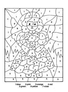Printable Color by Numbers Coloring Pages - Numbered Coloring Pages for Christmas Color by Number Kids Copy Picture 16e