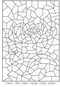 Printable Color by Numbers Coloring Pages - Image Result for Bible Math Worksheets 7a
