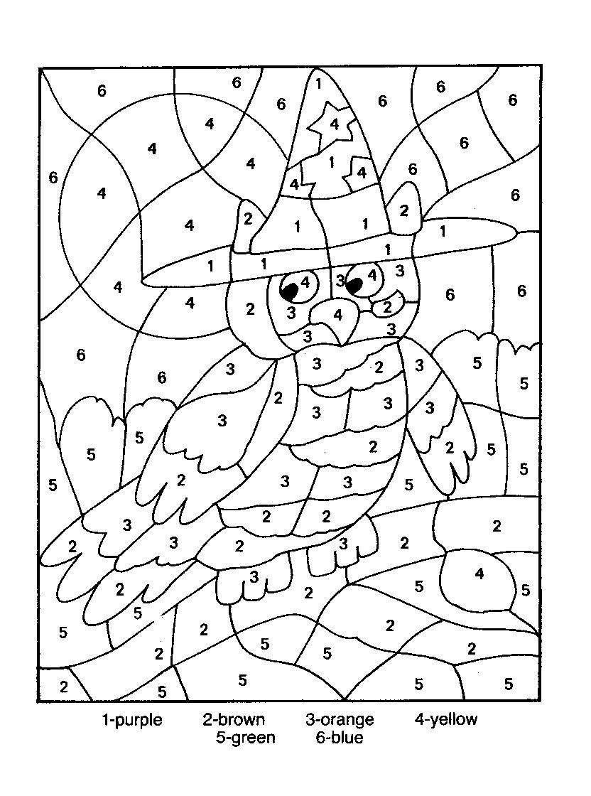 printable color by numbers coloring pages Download-Owl Color By Number Coloring Picture 4-s