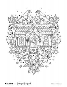 Printable Coloring Pages Creation Story - Christmas Setting Coloring Page 19k