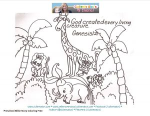 Printable Coloring Pages Creation Story - Coloring Pages God Created the World Creation Coloring Pages Valid Creation Coloring Pages to Use with 15m