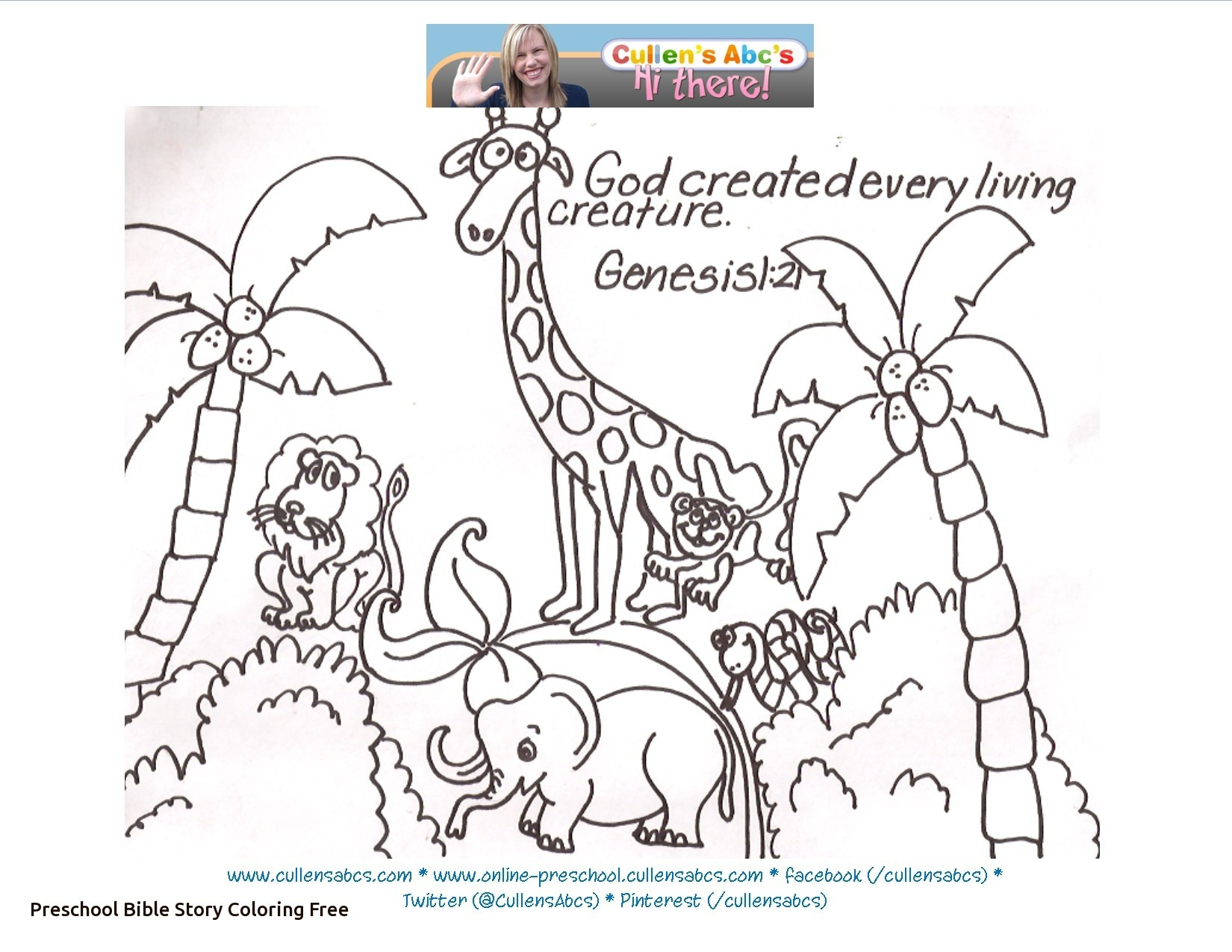 640 Top Coloring Pages For Creation Bible Story Download Free Images