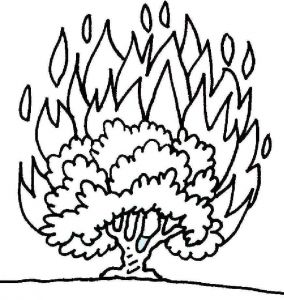 Printable Coloring Pages Creation Story - Moses Burning Bush Google Search 6h