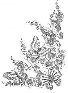 Printable Coloring Pages Of Flowers and butterflies - to Print This Free Coloring Page Coloring Adult Difficult butterflies Click On the Printer Icon at the Right 9s