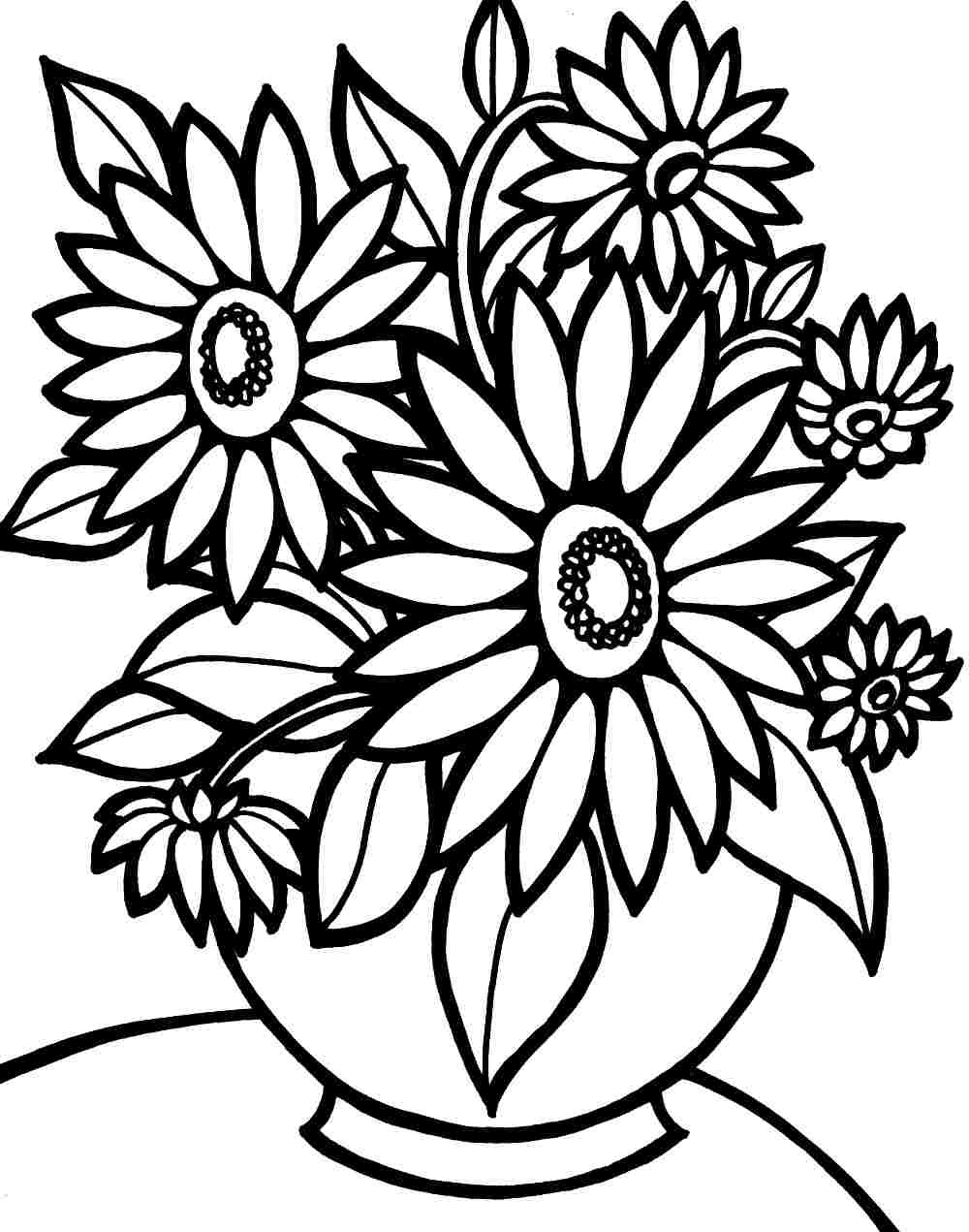 Printable Coloring Pages Of Flowers and butterflies Collection ...