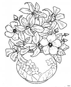 Printable Coloring Pages Of Flowers and butterflies - Download Image 1i