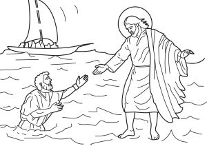Printable Coloring Pages Of Jesus Walking On Water - Jesus Walking On Water Coloring Page 17n Smart Design Jesus Walks Water Coloring Page Pages 12b