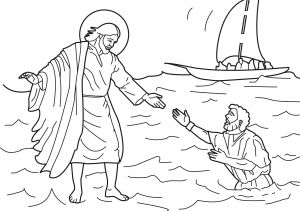 Printable Coloring Pages Of Jesus Walking On Water - Jesus Walks Water Coloring Page Jesus Walking Water Coloring Page Luxury 20 New Jesus Walks 7e