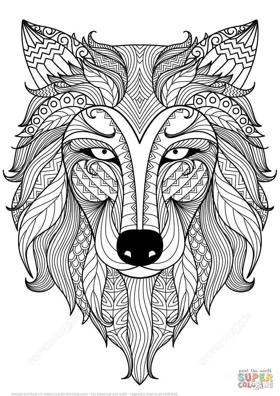 printable coloring pages of wolves Download-the Wolf Zentangle coloring pages to view printable version or color it online patible with iPad and Android tablets 18-r