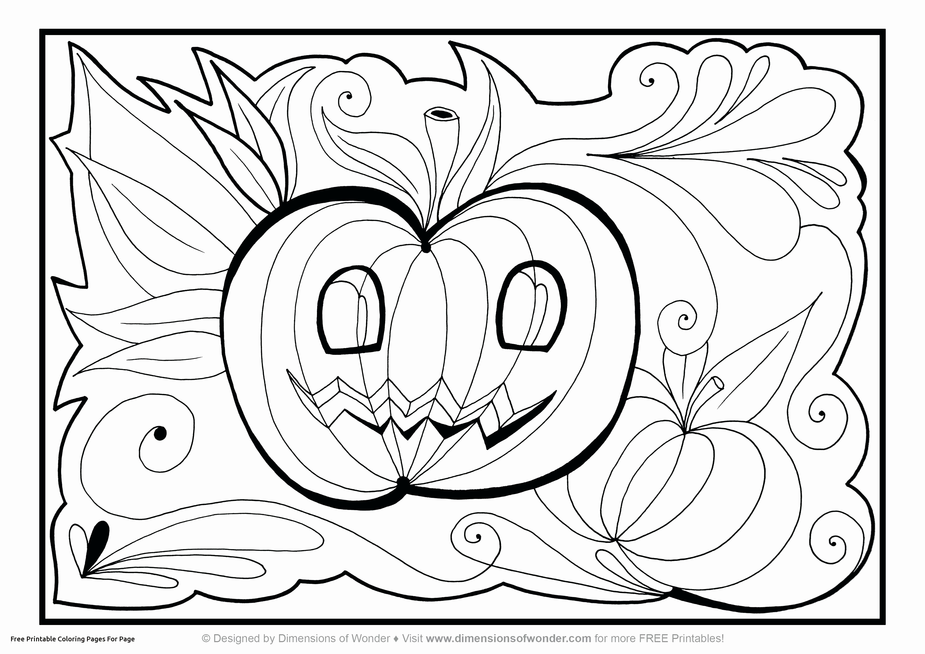 30 Printable Halloween Coloring Pages To Print Collection